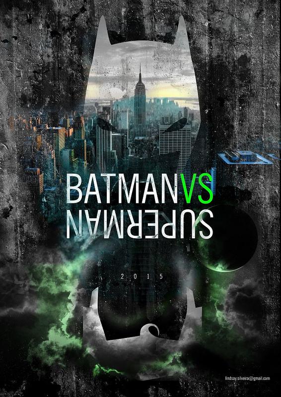 Lindsay Silveira Batman VS Superman alternative movie poster