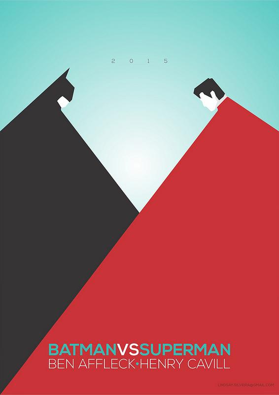 Lindsay Silveira Batman VS Superman alternative movie poster minimalist