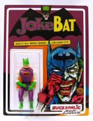 "JokeBat by SUCKADELIC Mixed media Limited edition of 12, 3 available 6.5"" x 8.5"" $175"
