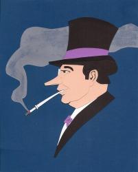 "The Penguin by John Rozum Cut paper 8"" x 10"" (10.5"" x 12.5"" w/ frame) $100"
