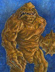 "Clayface by Cuyler Smith Watercolor, gouache, prismacolor, and ink on Rives BFK 8"" x 10"" (9"" x 11"" w/ frame) $265"
