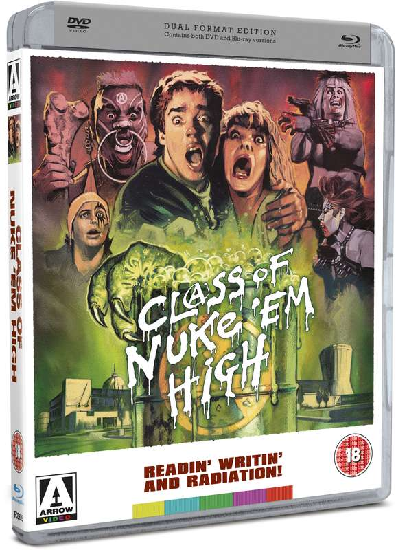 dvd art arrow video class of nuke em high