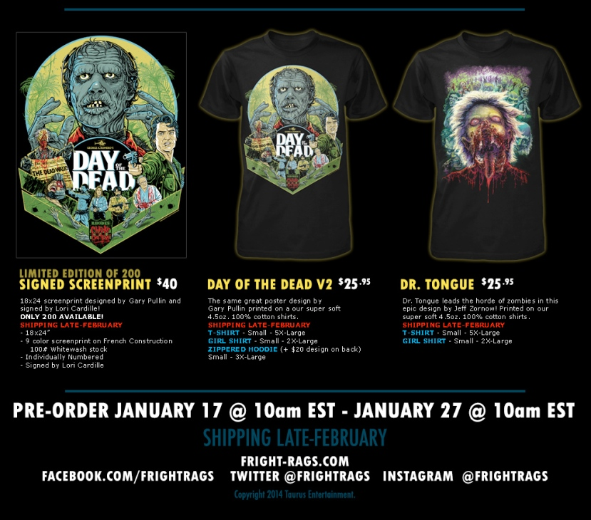 fright rags day of the dead set box set extra items