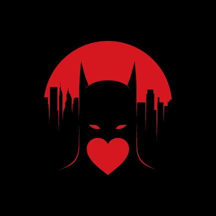 Heroes with Heart Valentine's Day Card Batman