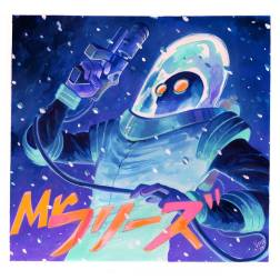 """Mr. Freeze by Veronica Fish Gouache on watercolor paper 9"""" x 9"""" (12"""" x 12"""" w/ frame) $300"""