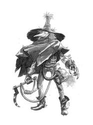 """Scarecrow by M.S. Corley Sumi Inkwash 9"""" x 11"""" $120"""
