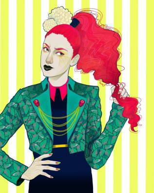 """Poison Ivy: Vogue Gallery by Celeste Pille Digital print Limited edition of 14 8"""" x 10"""" $20"""
