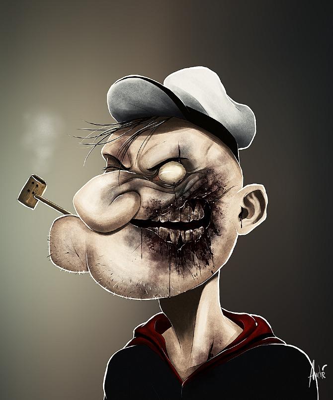 Andre Du Freitas Zombie_popeye_web