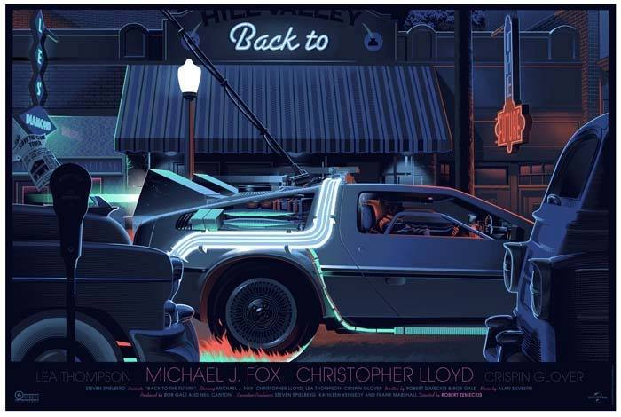 Laurent Durieux Back To The Future Mondo