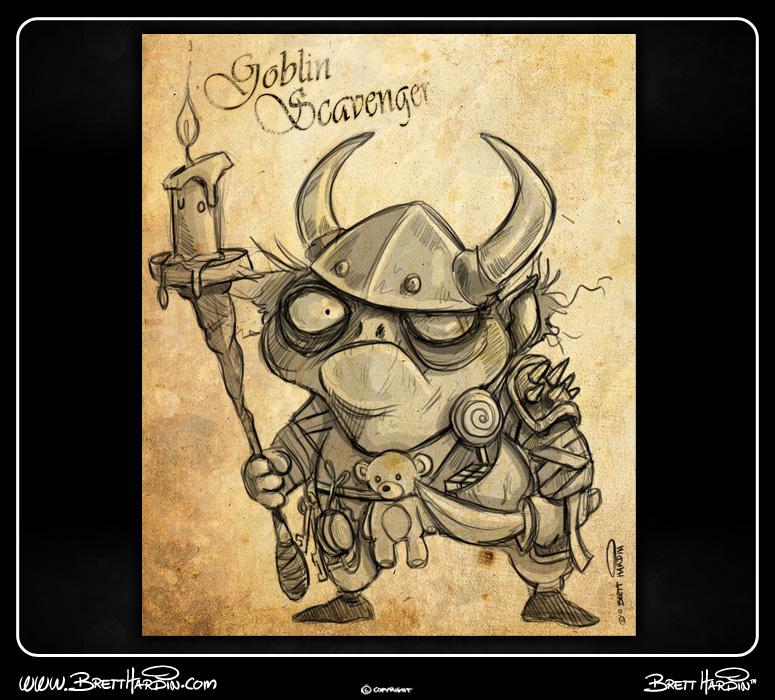 brett hardin 2d art goblin