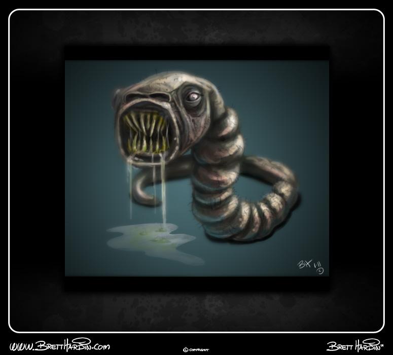 brett hardin 2d art worm