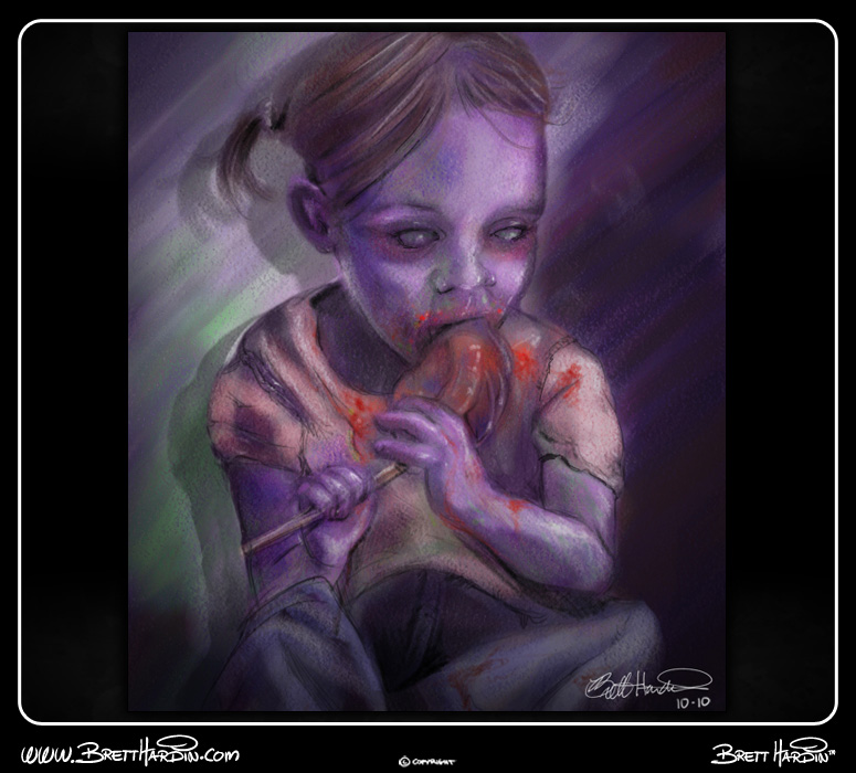brett hardin 2d art zombie