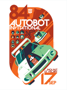 Autobot Invitational by Tom Whalen