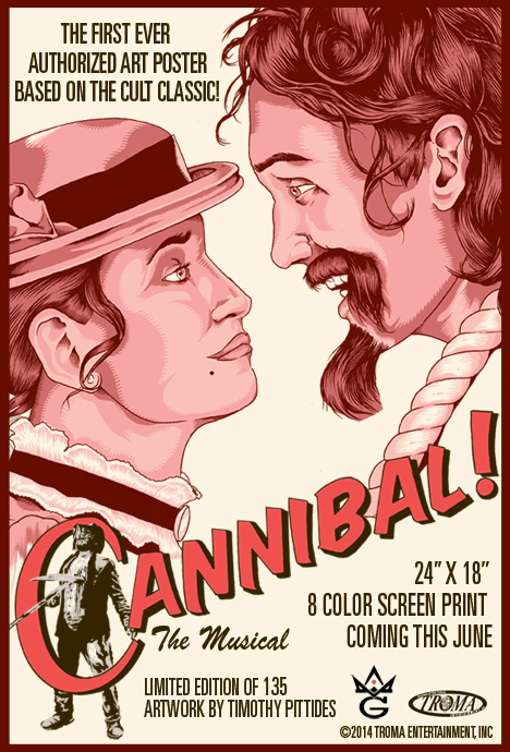 CANNIBAL THE MUSICAL TEASE TIMOTHY PITTIDES GREY MATTER ART