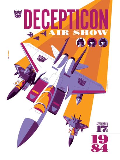 Decepticon Air Show by Tom Whalen