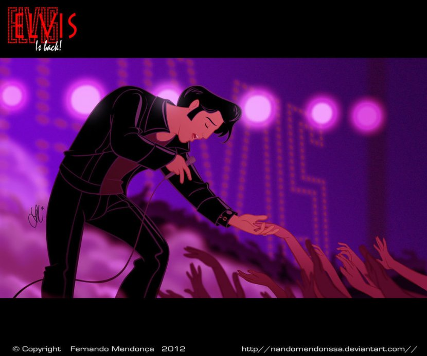 disneyfied art elvis
