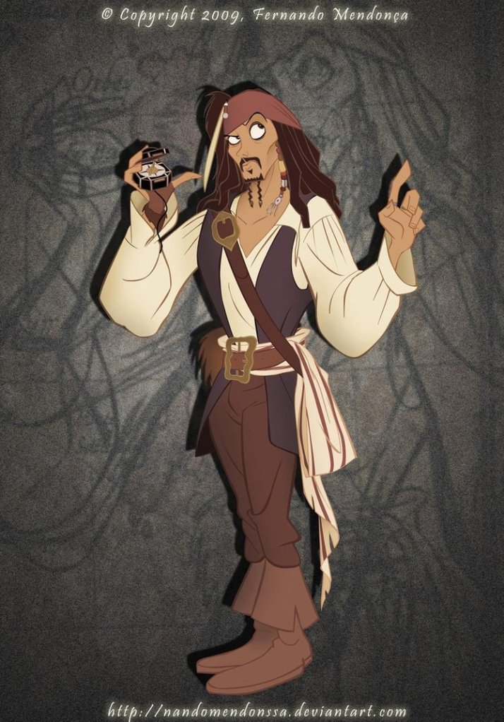 disneyfied art jack sparrow