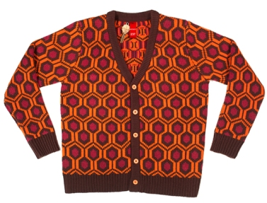 Mondo 237: Knit Cardigan - 100% acrylic five-button heavy knit cardigan. Comes with custom die-cut Mondo Room 237 key (while supplies last). Runs from size XS through 3XL. $75