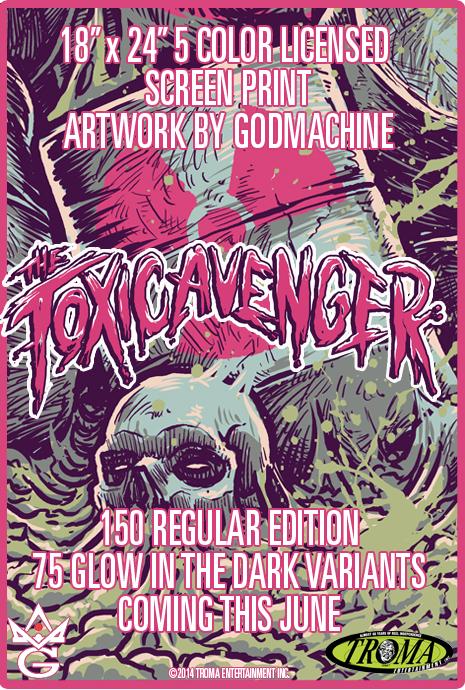 TOXIC AVENGER TEASE GODMACHINE GREY MATTER ART