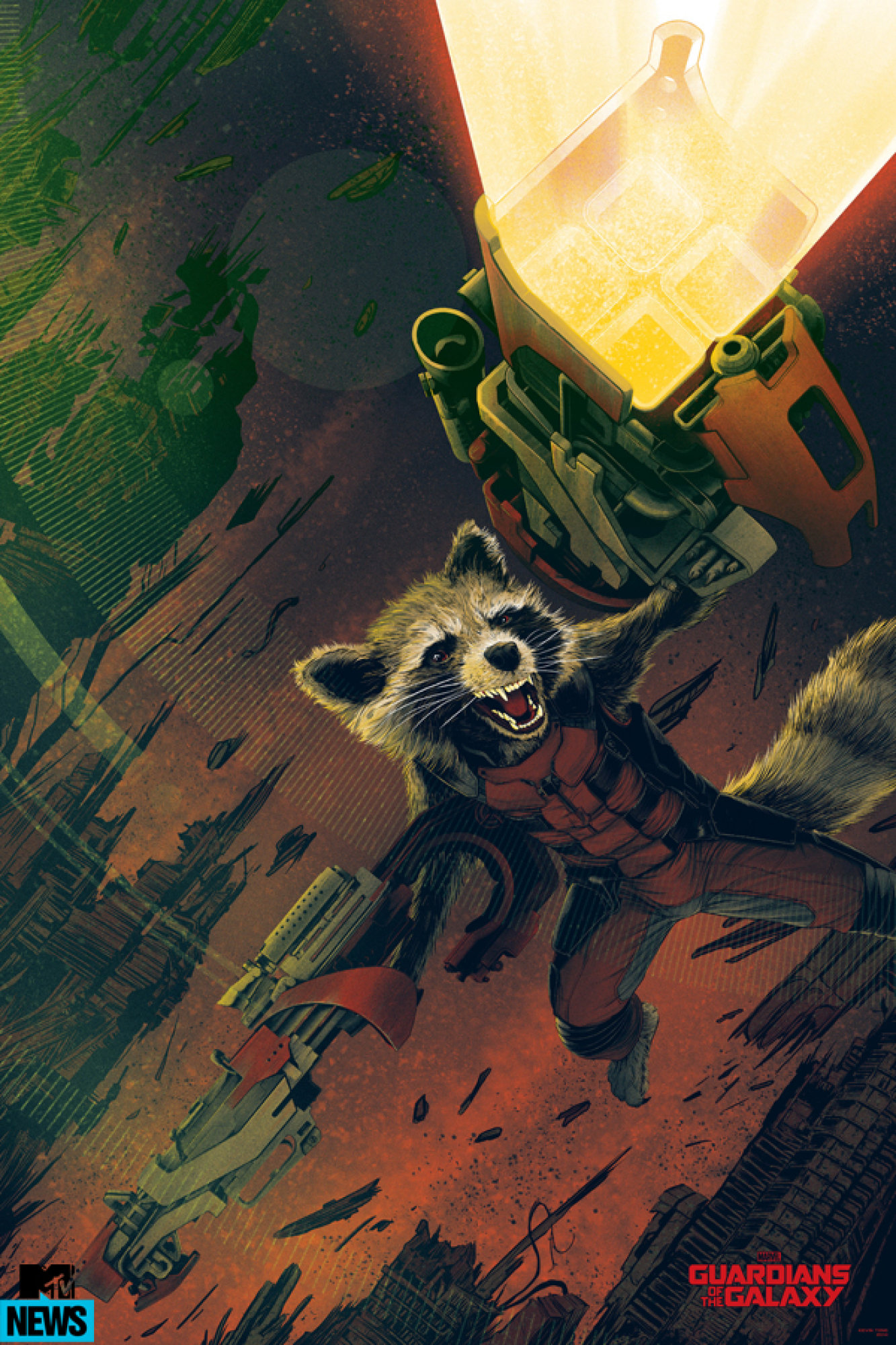 Mondo Rocket Raccoon Guardians of The Galaxy
