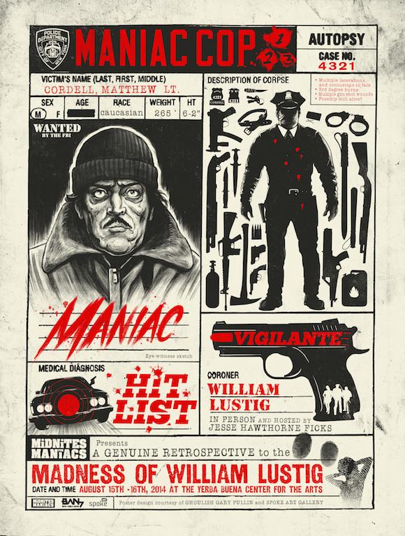 Gary Pullin The Madness Of William Lustig Maniac Cop Spoke Art