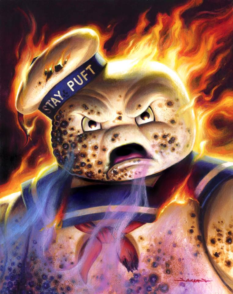 Jason Edmiston Flambe Stay Puft Ghostbusters